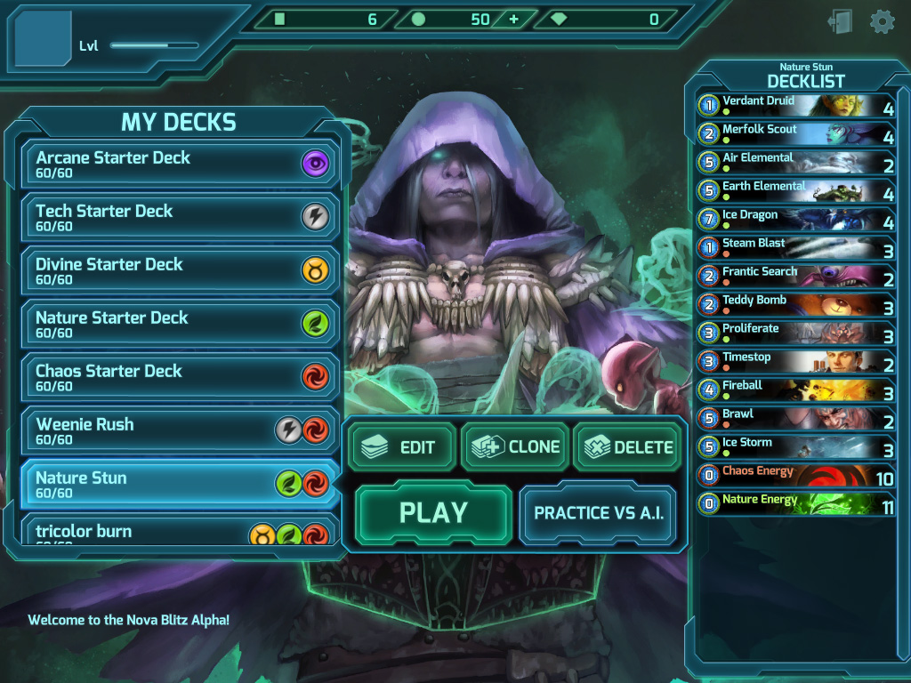 screenshot main menu