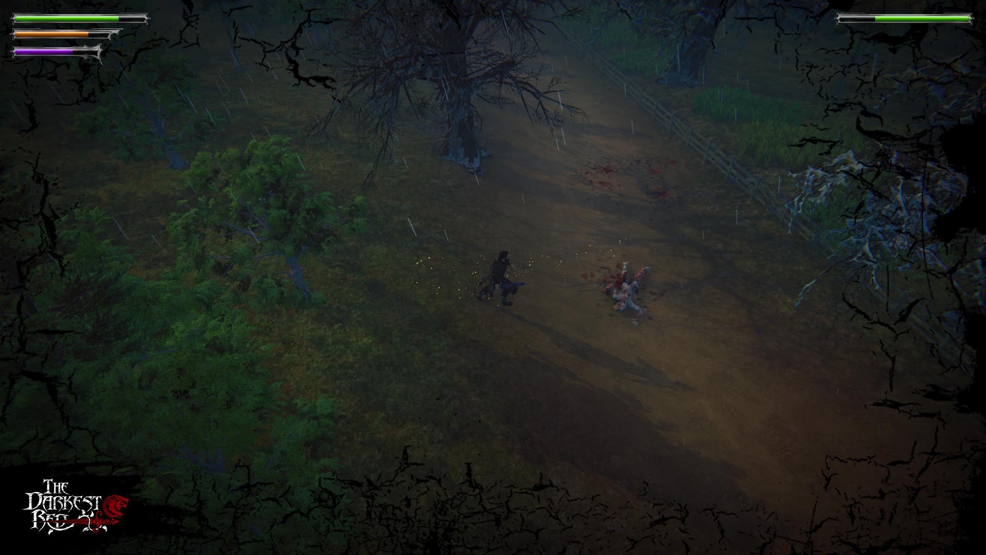 The Darkest Red dead monster screen