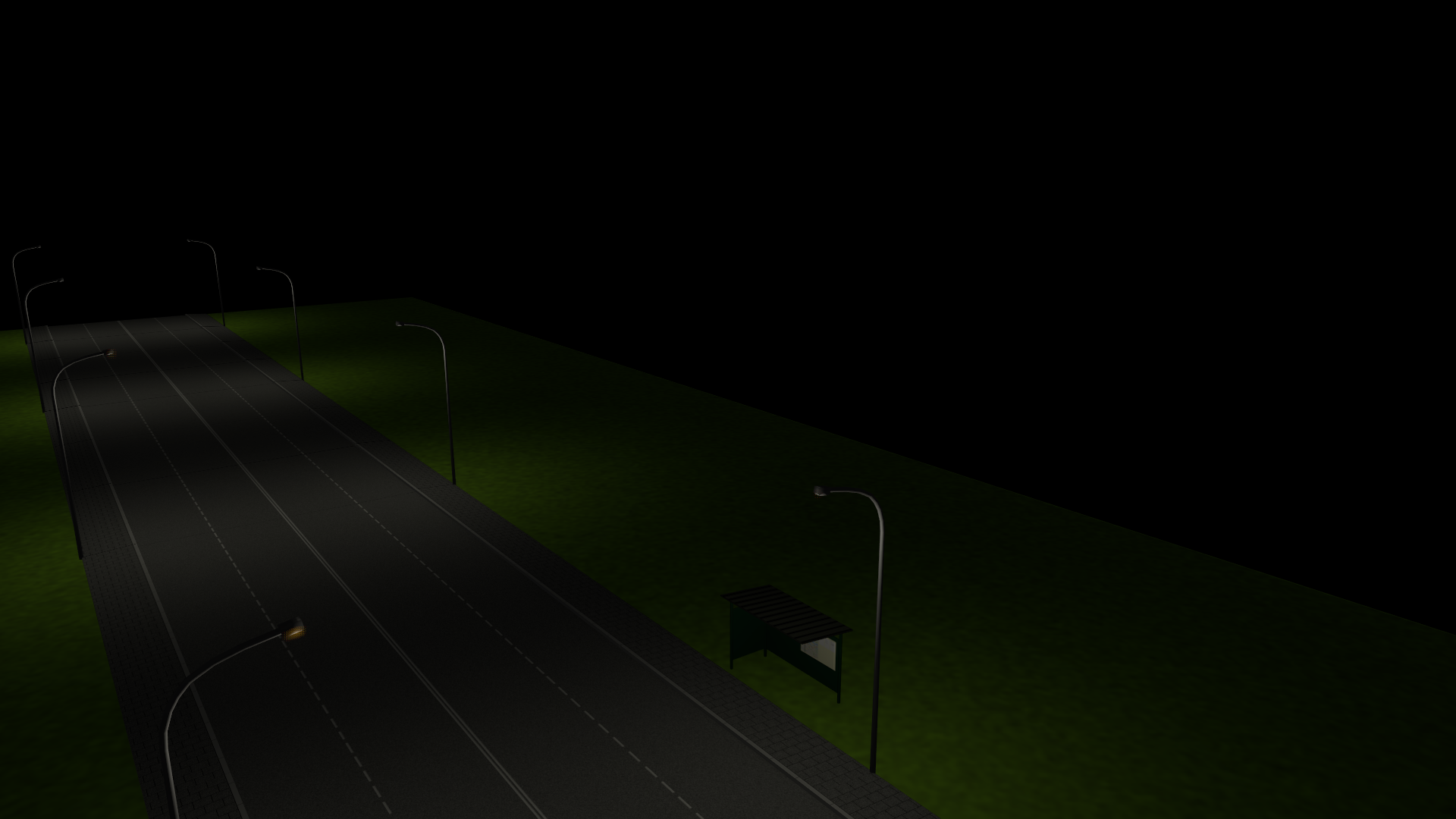 Glow map on street lights