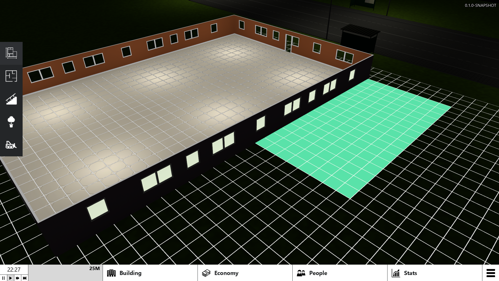 Display construction grid when expanding floors