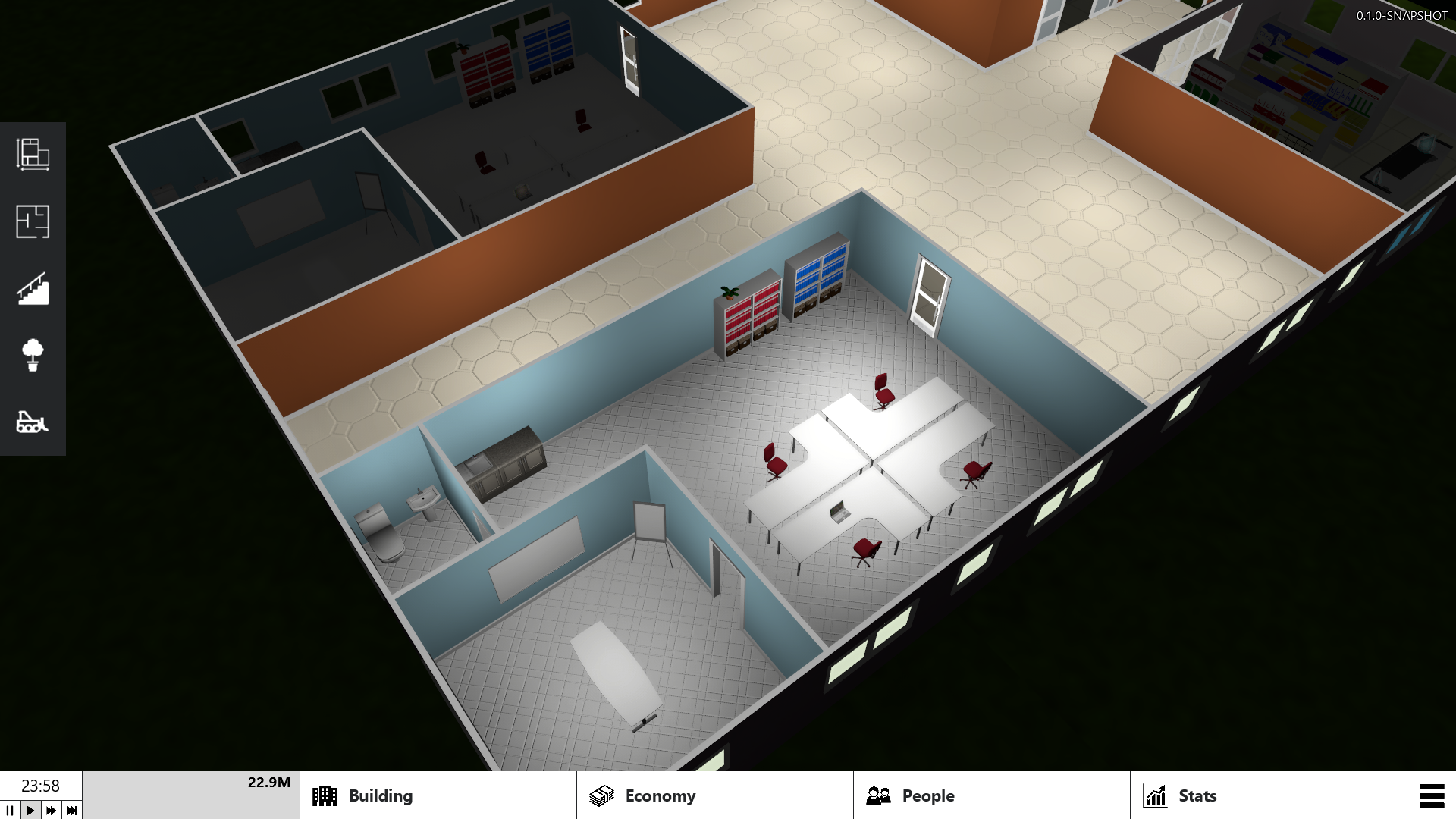 Office with conference room, pentry and toilet