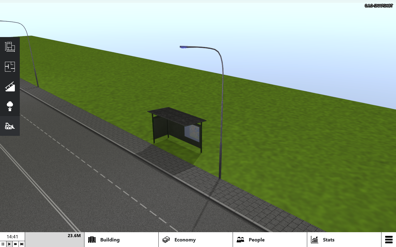 Show new models and textures for street light and bus stop