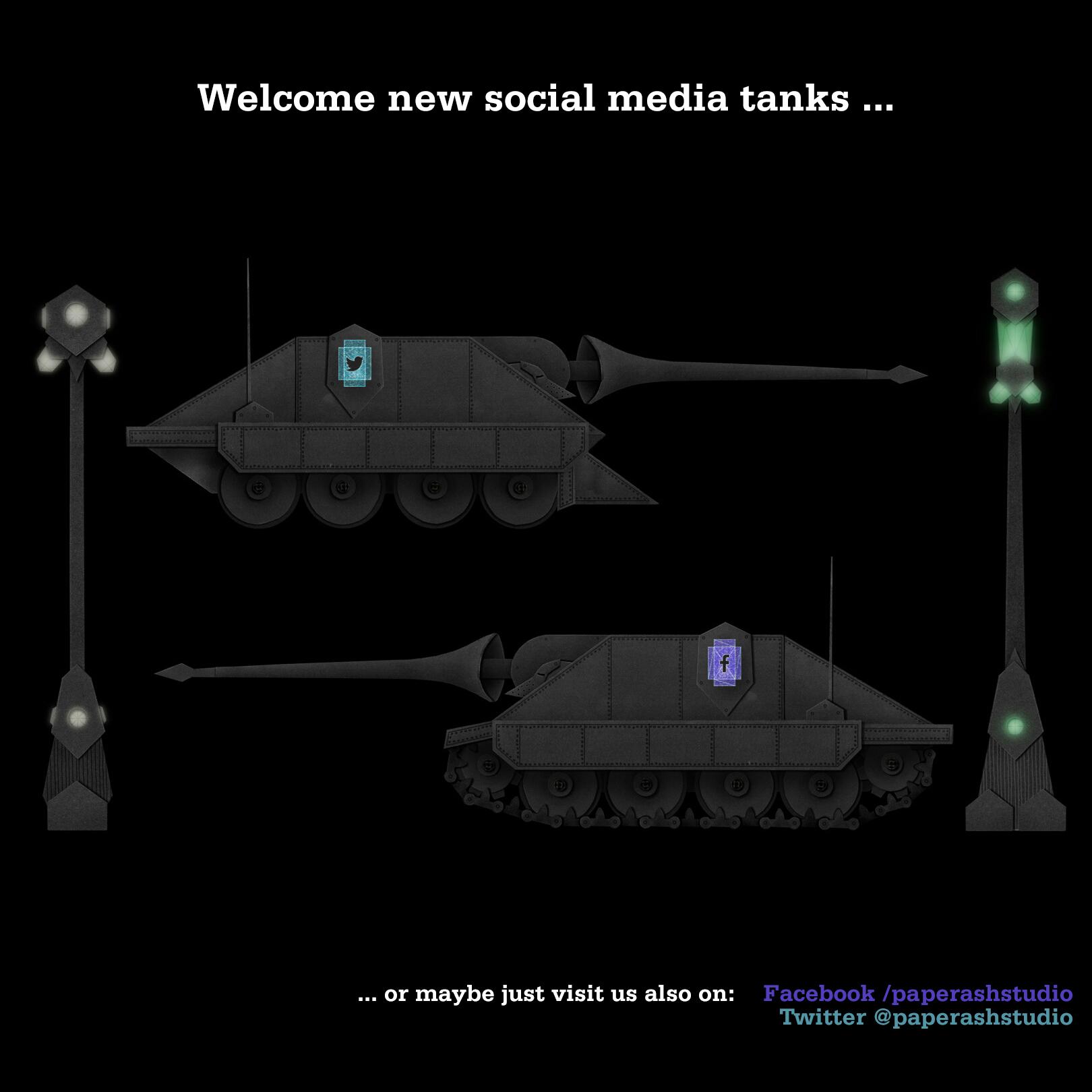 Social media tanks