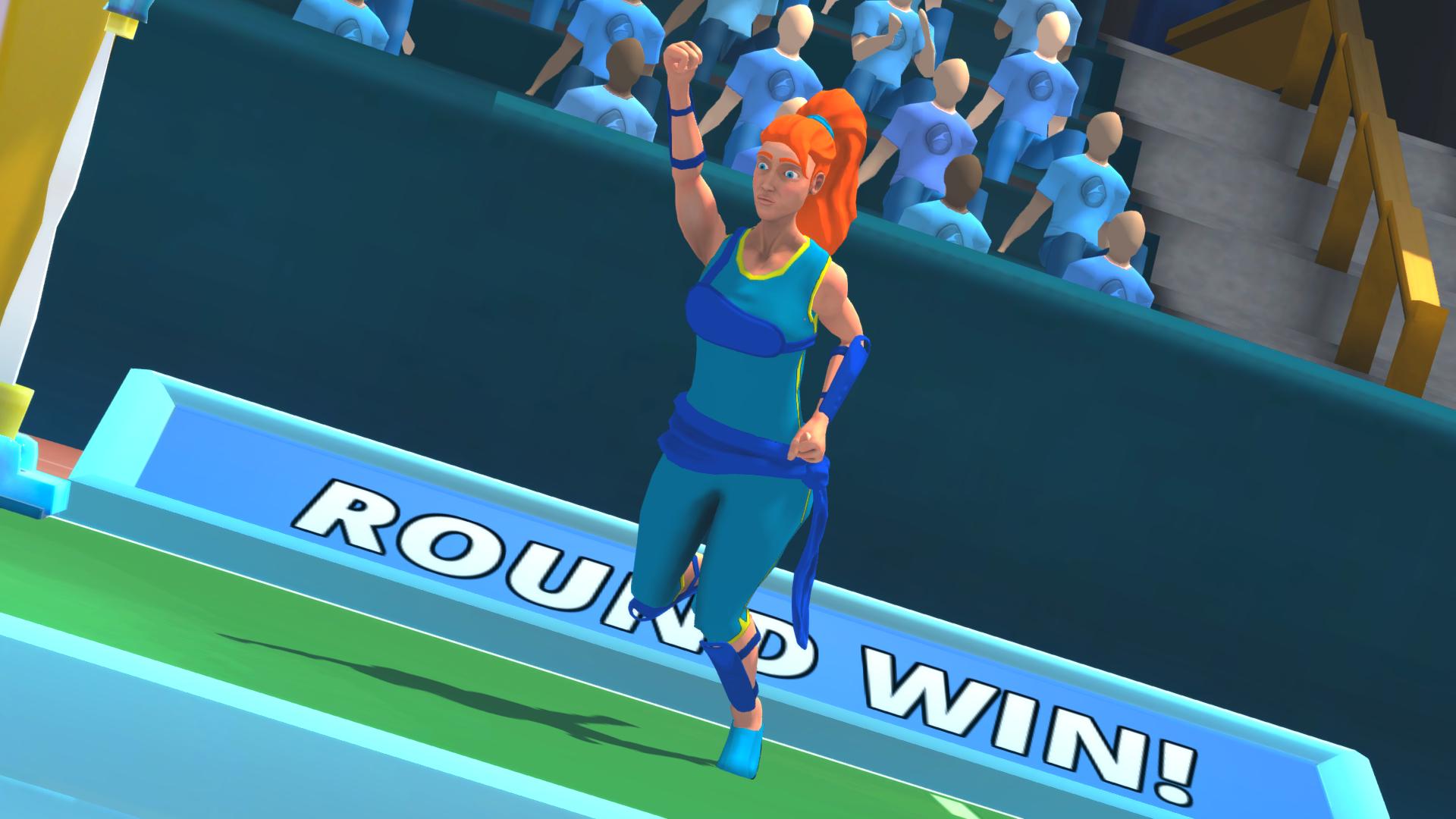 Jess celebrates a winning a round!