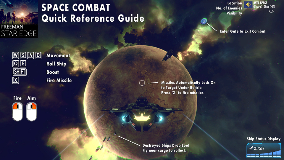 Freeman Space Combat Quick Reference Guide