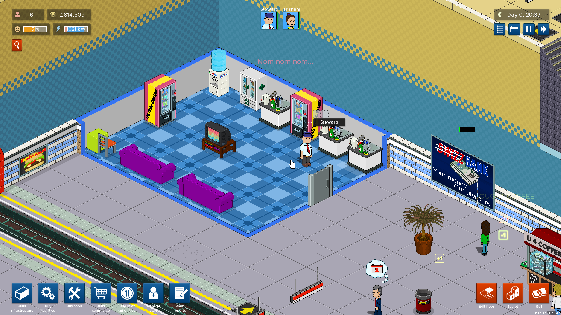 Overcrowd staff room