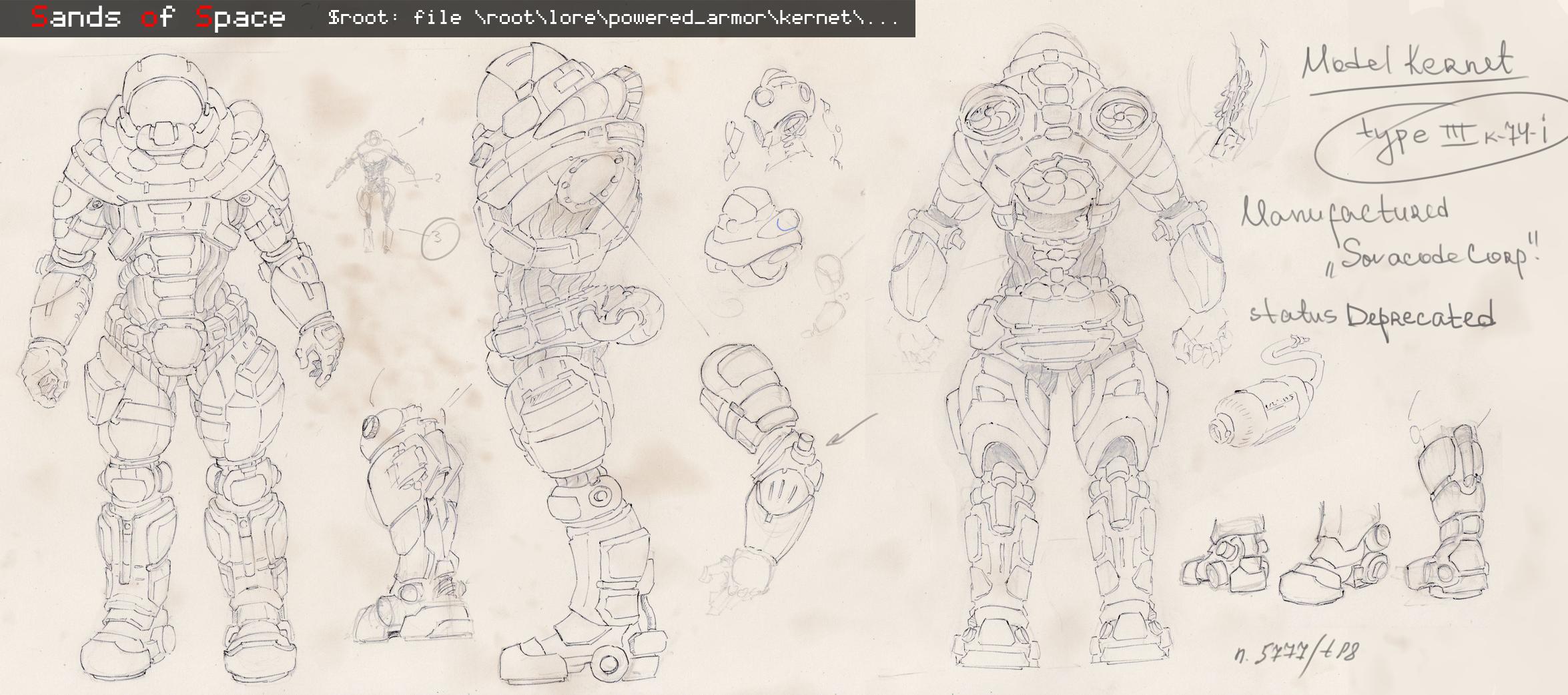 Concept of Kernet Power Armor