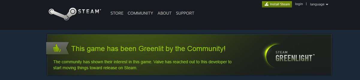 He we are greenlit!