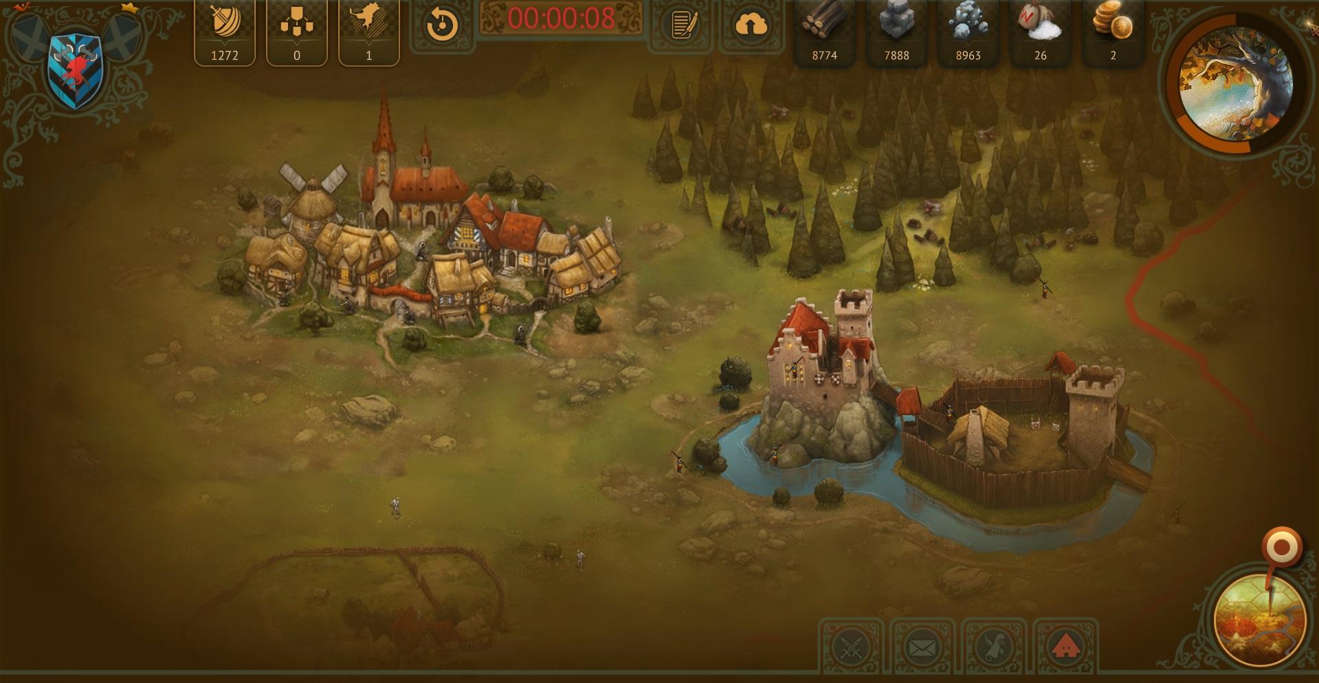 Village and lvl 2 castle 1