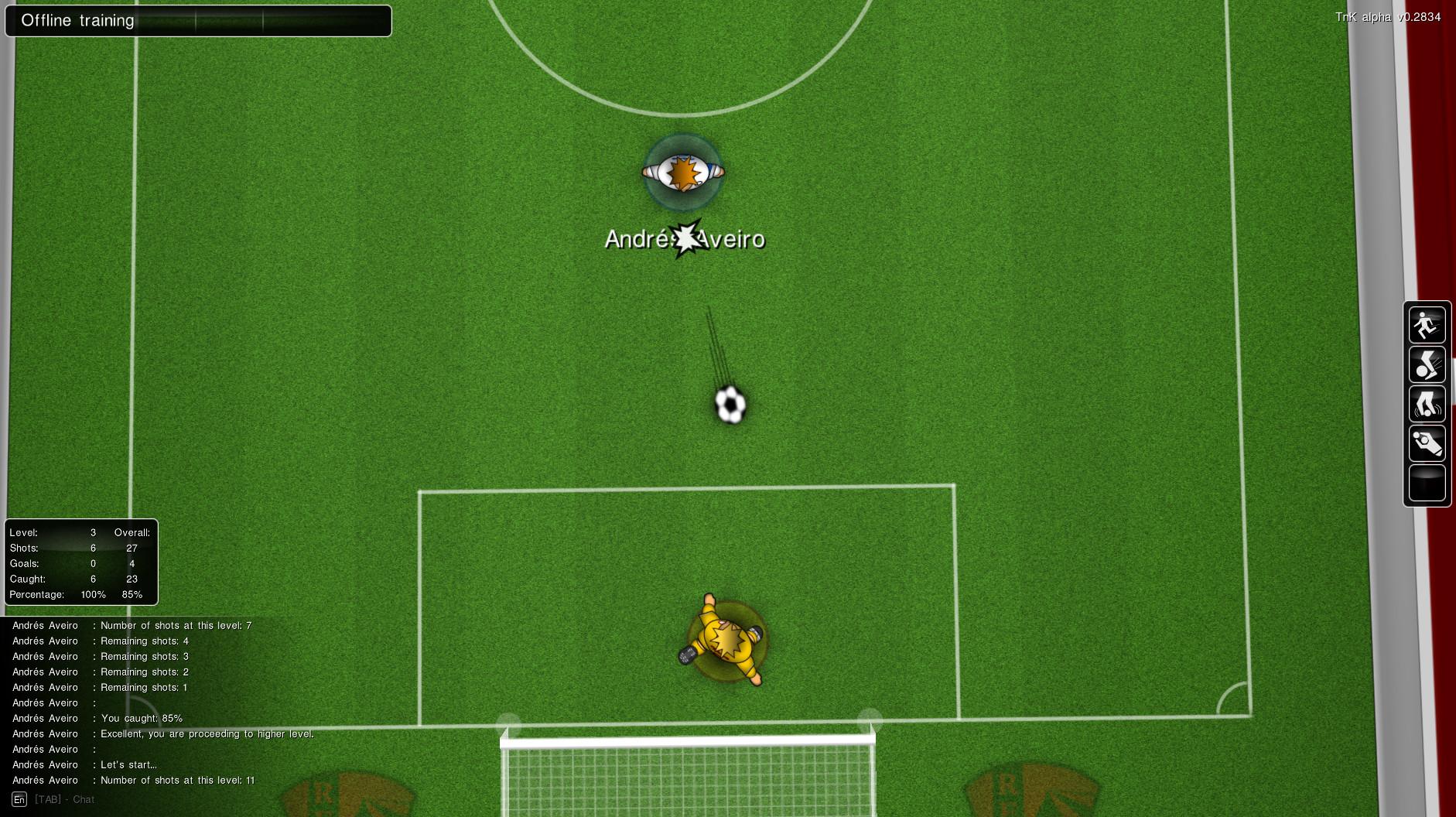 Training - goalkeeper
