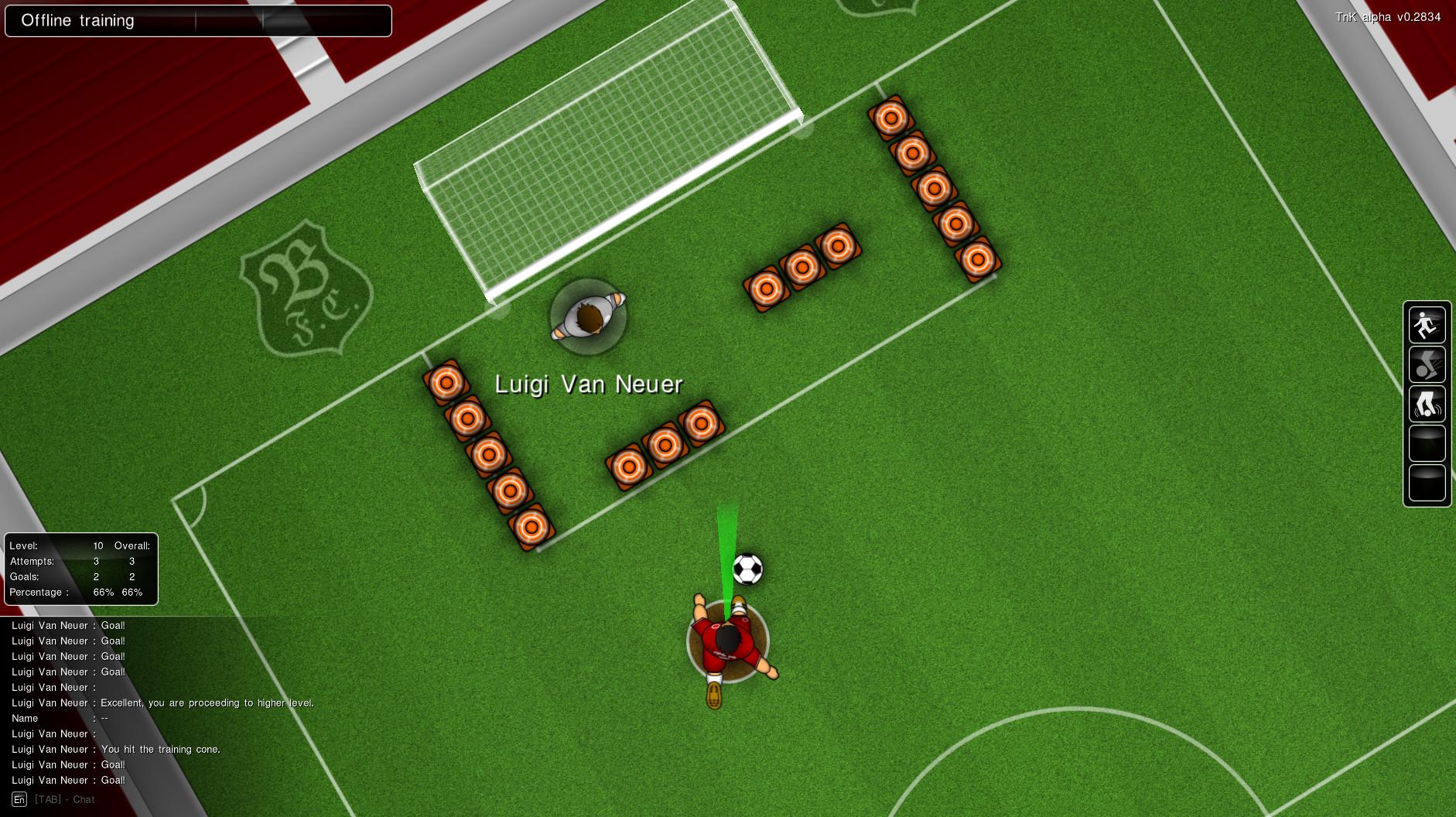 Training - shots on goal.