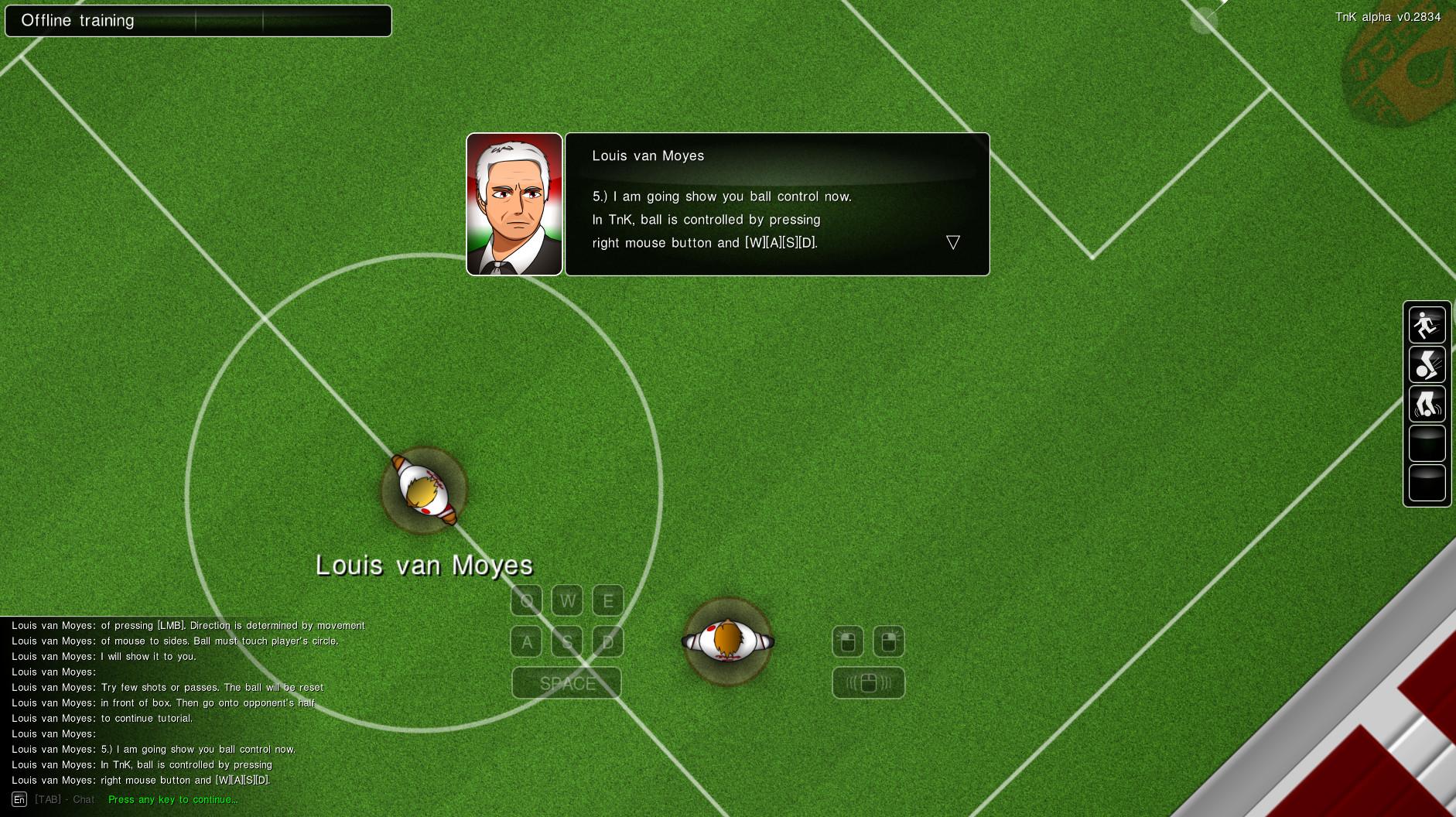 Tutorial - Npc explains ball control.