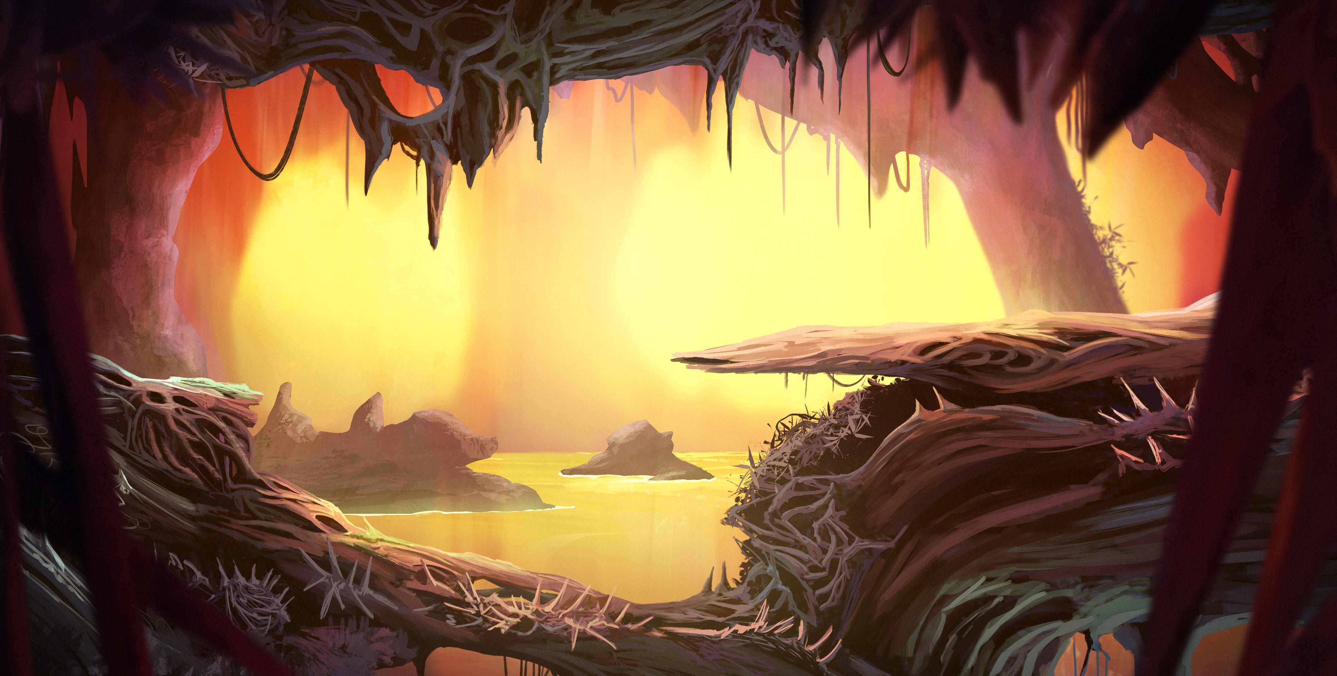 CONCEPT CaveOfDestiny Corridors 1