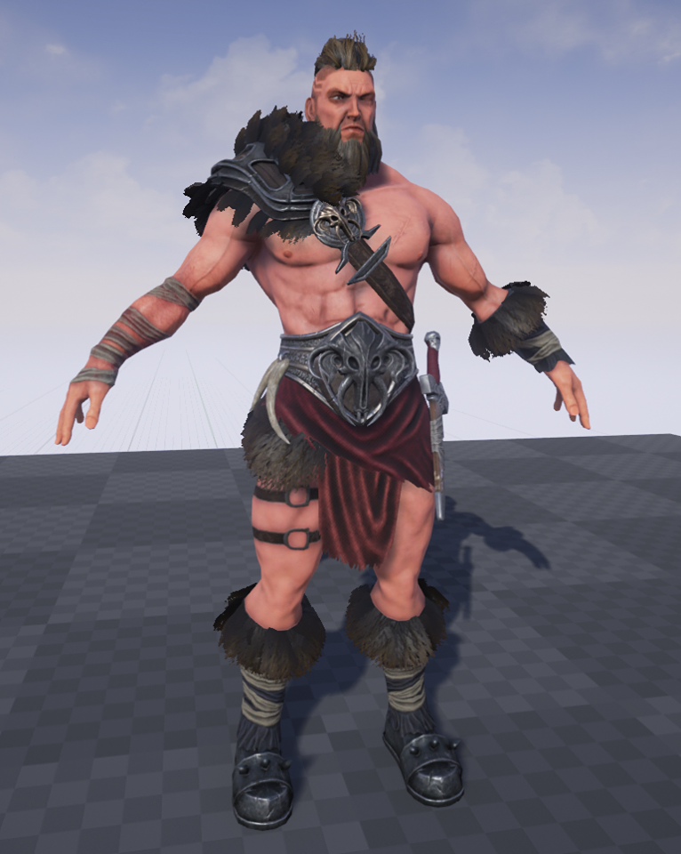 New version of the player character in UE4