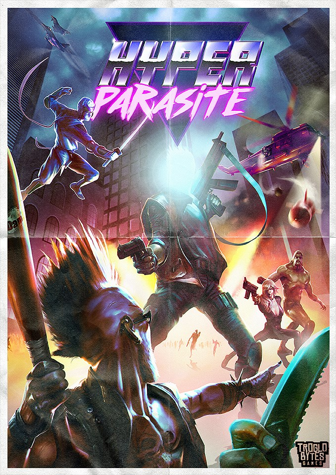HyperParasite RetroCover game art logo