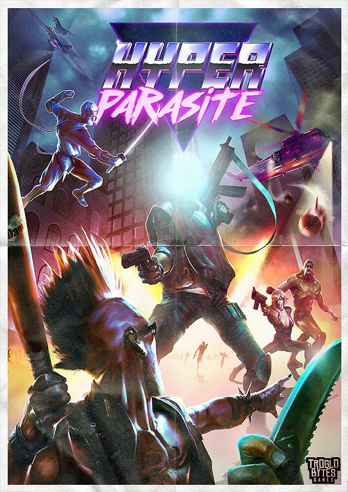 HyperParasite RetroCover game art logo