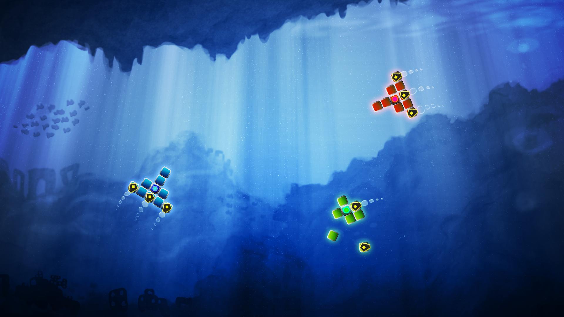 Spacetris underwater