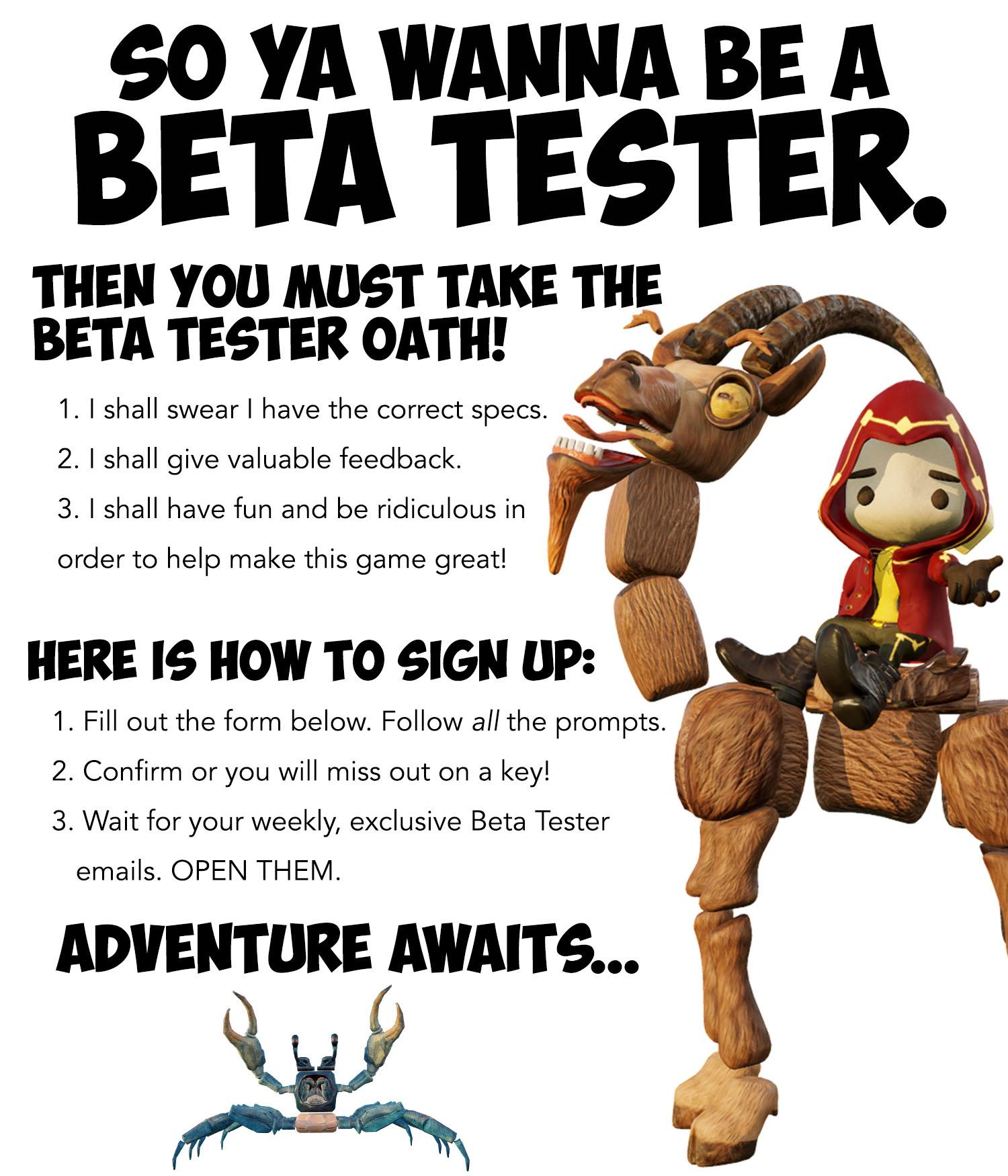 Beta Testing Sign Up Pic