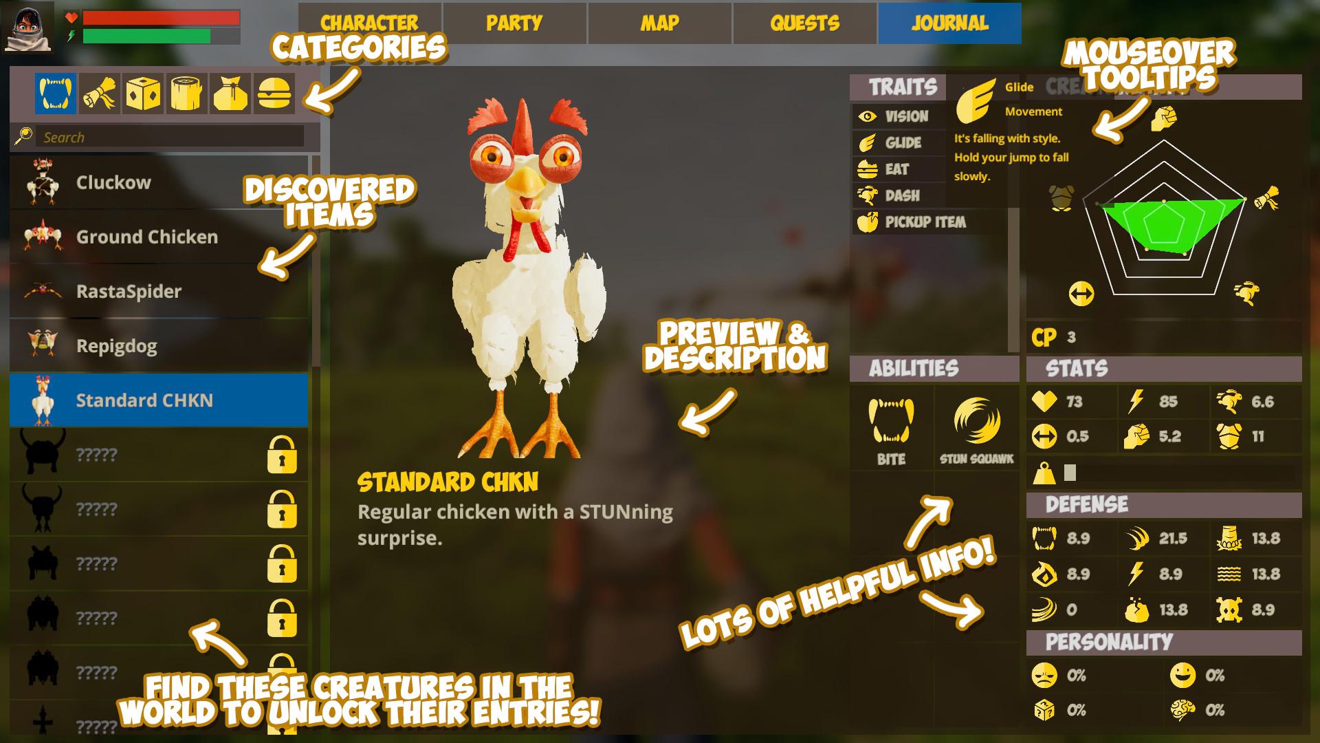 journalentry standardchicken