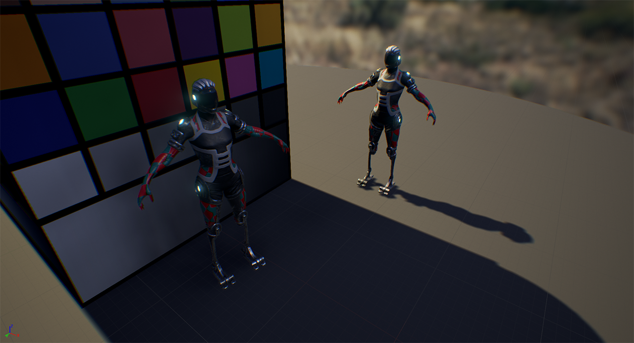 Work in progress character and dynamic lighting