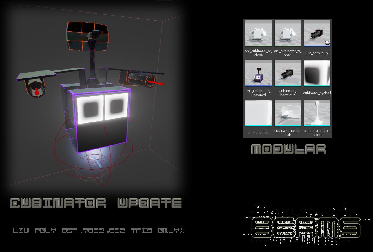 cubinator beams update