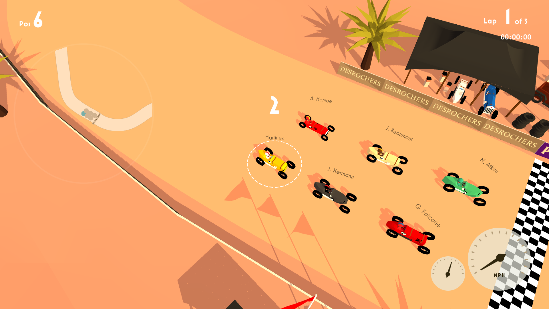 Start grid in Maghreb race