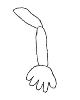 It's supposed to be an arm. This is why I'm not an artist