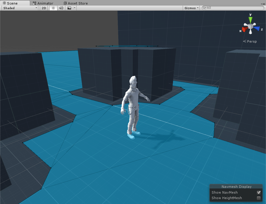 Baked NavMesh. Unity does an excellent job of automatically generating this
