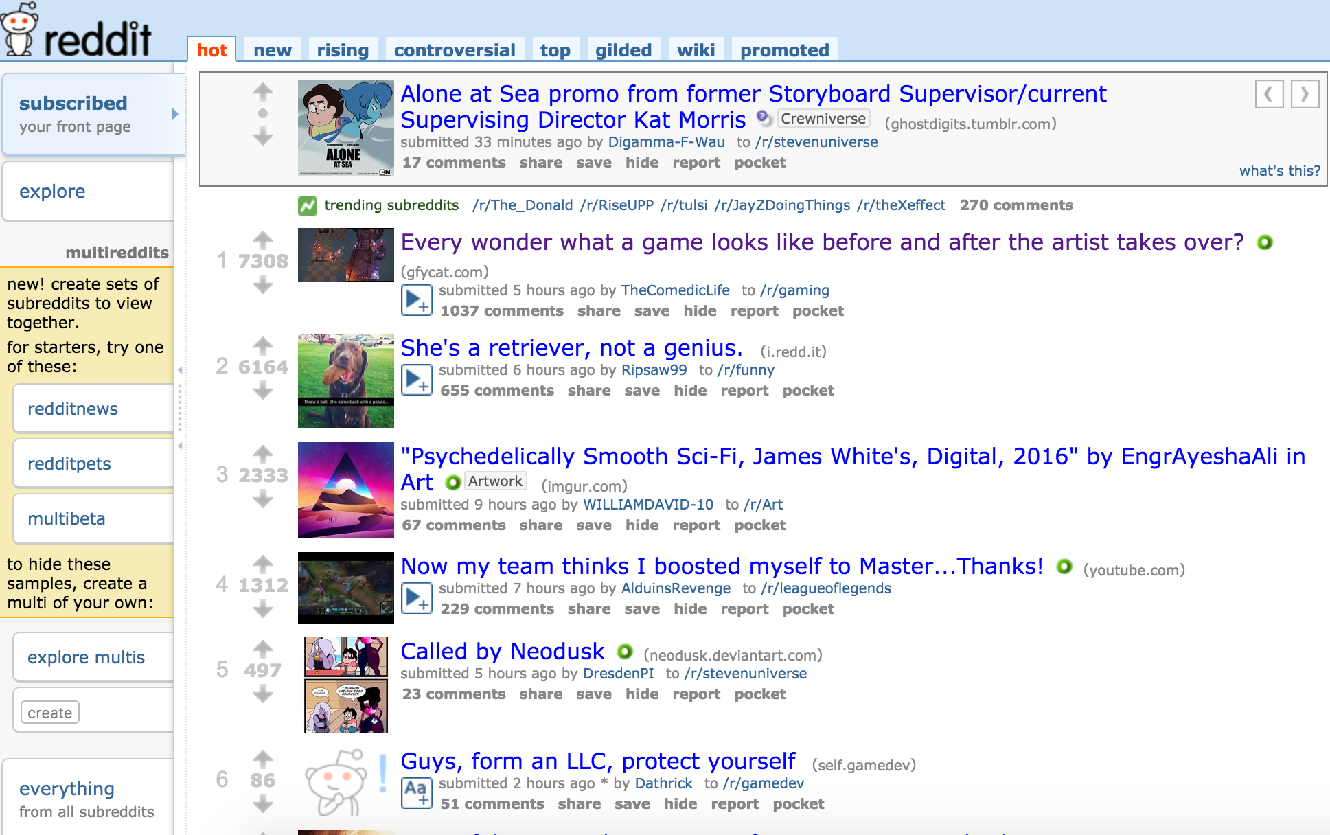 Front page of Reddit 04