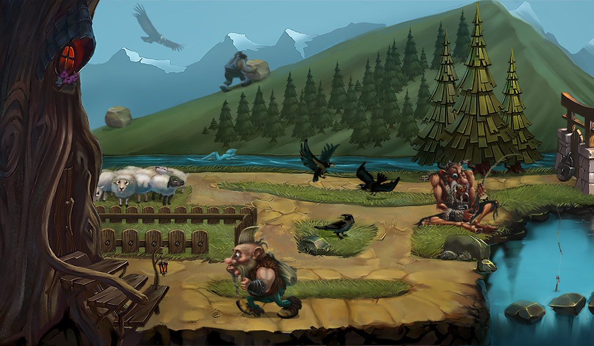 The second scene of the first level