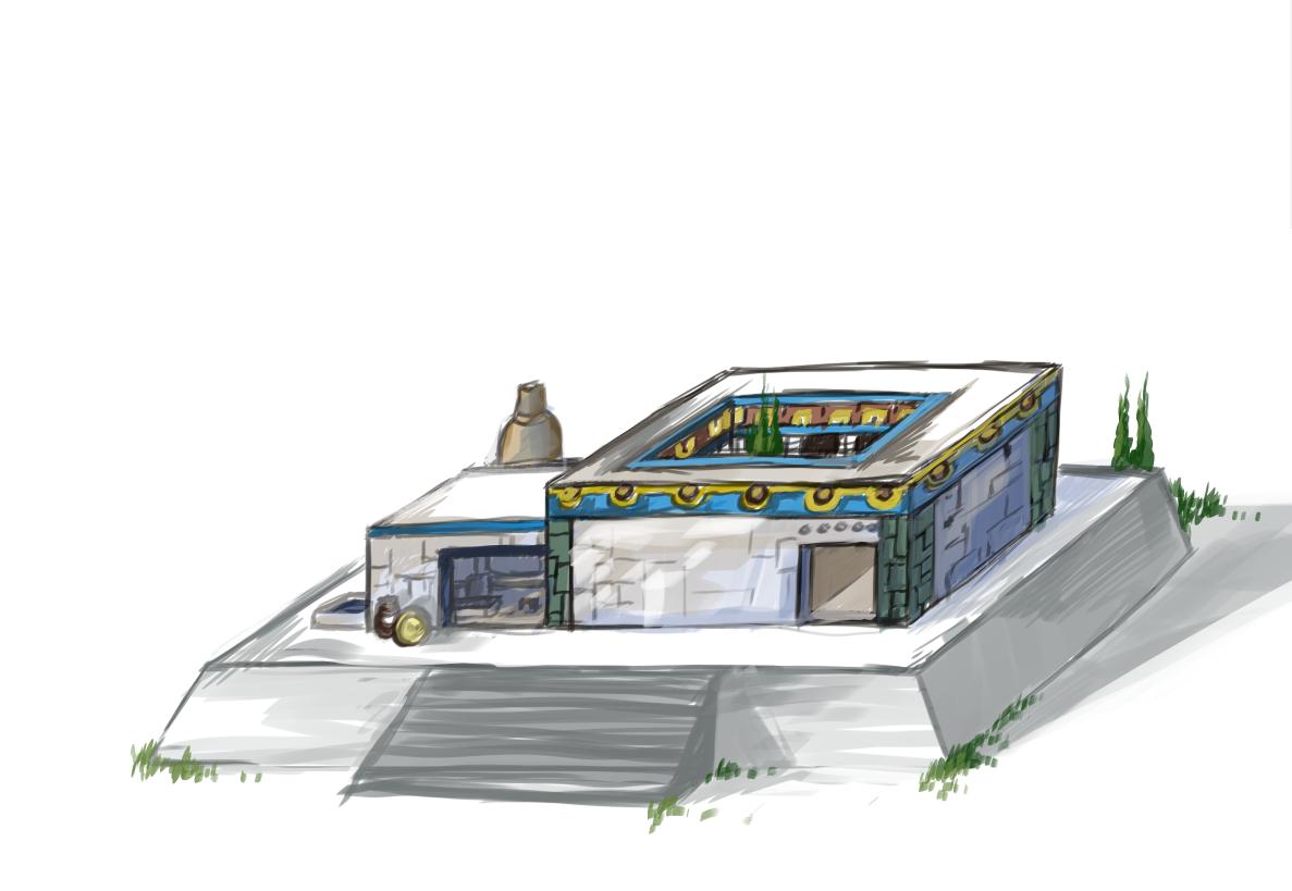 Aztecs' temple concept