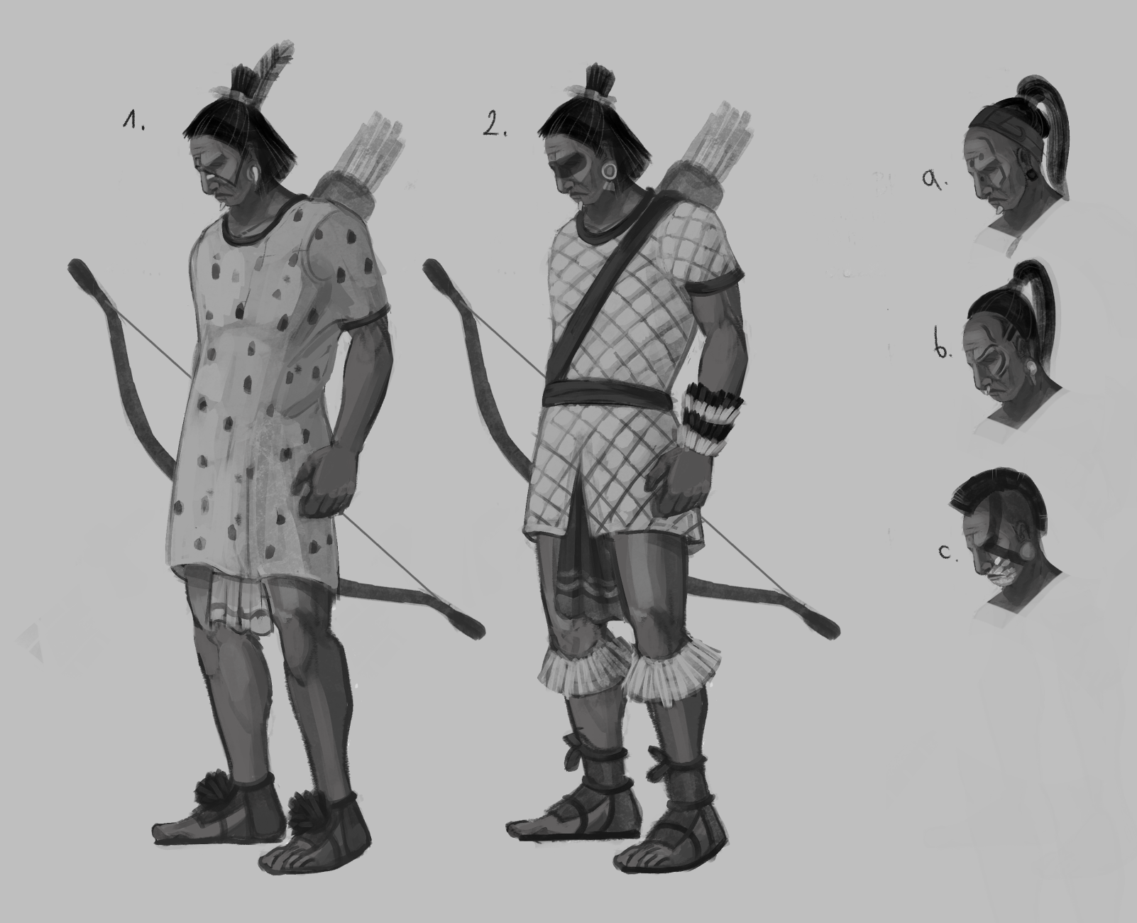 Aztecs' archer concept