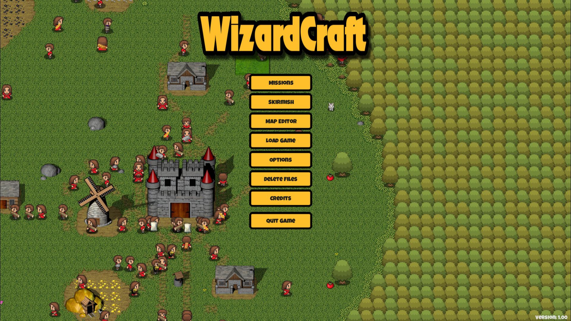 WizardCraft mainmenu