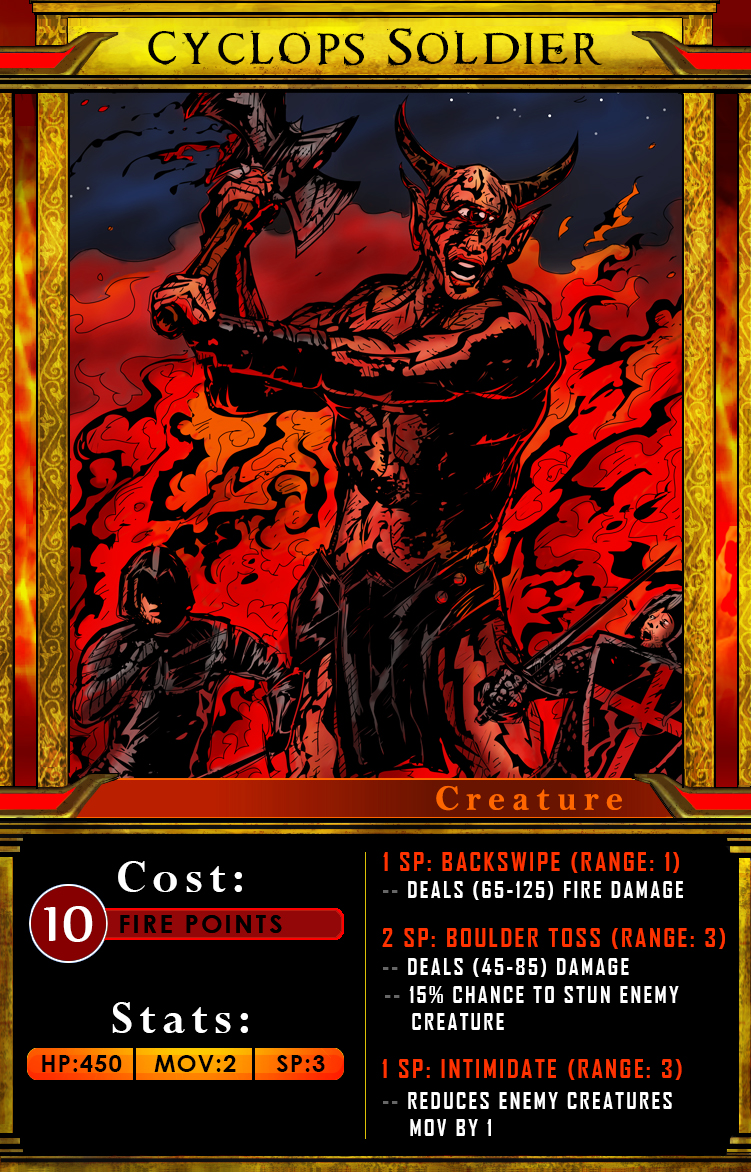Card for second fire creature (above)