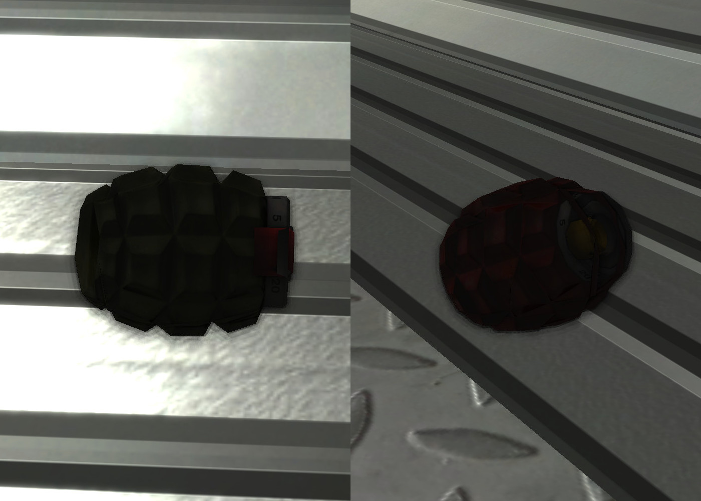 Chris' grenade and firebomb weapons