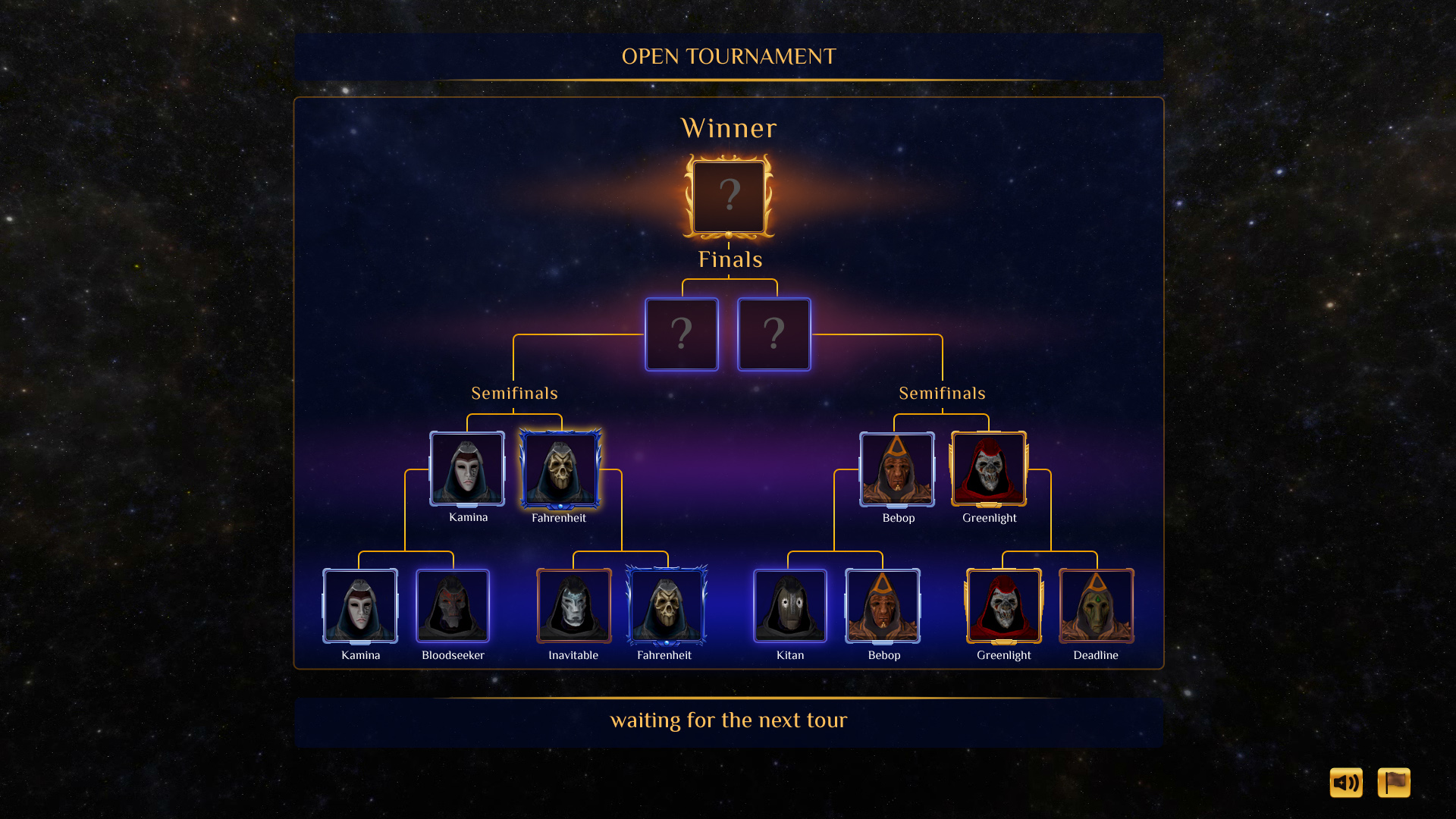 Tournament Screen