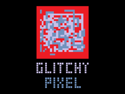 Glitchy Pixel Logo
