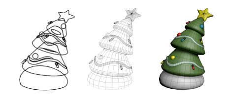 A Rather Festive Tree modeling