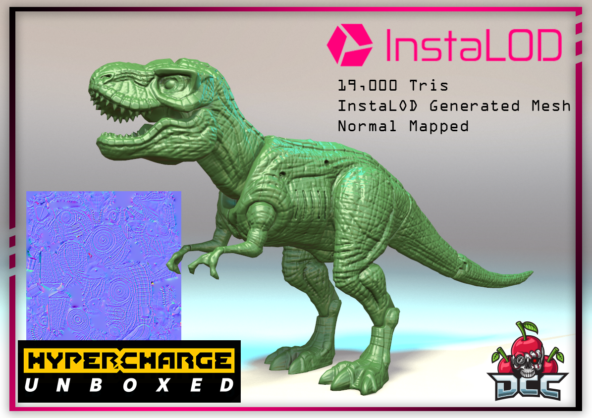 t rex normal mapped