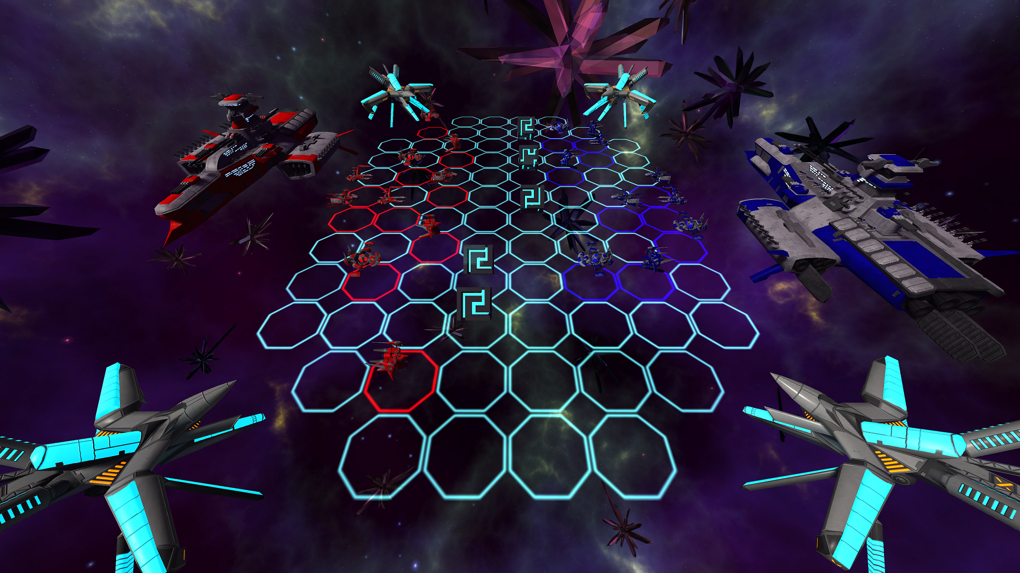 Screenshot of two opposing commanders in a match.
