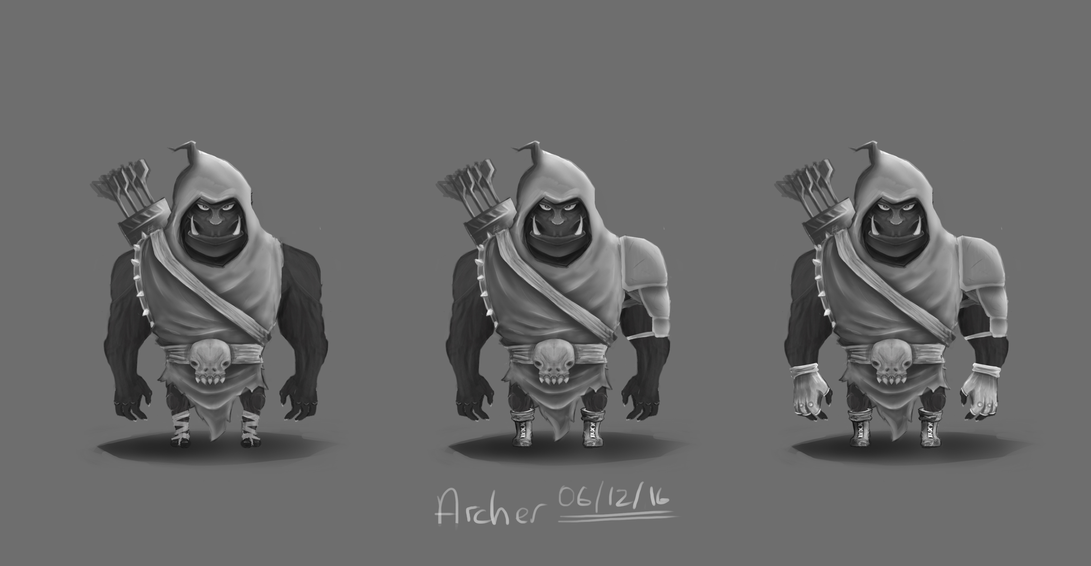 Orc Archer new concept 4 quiver