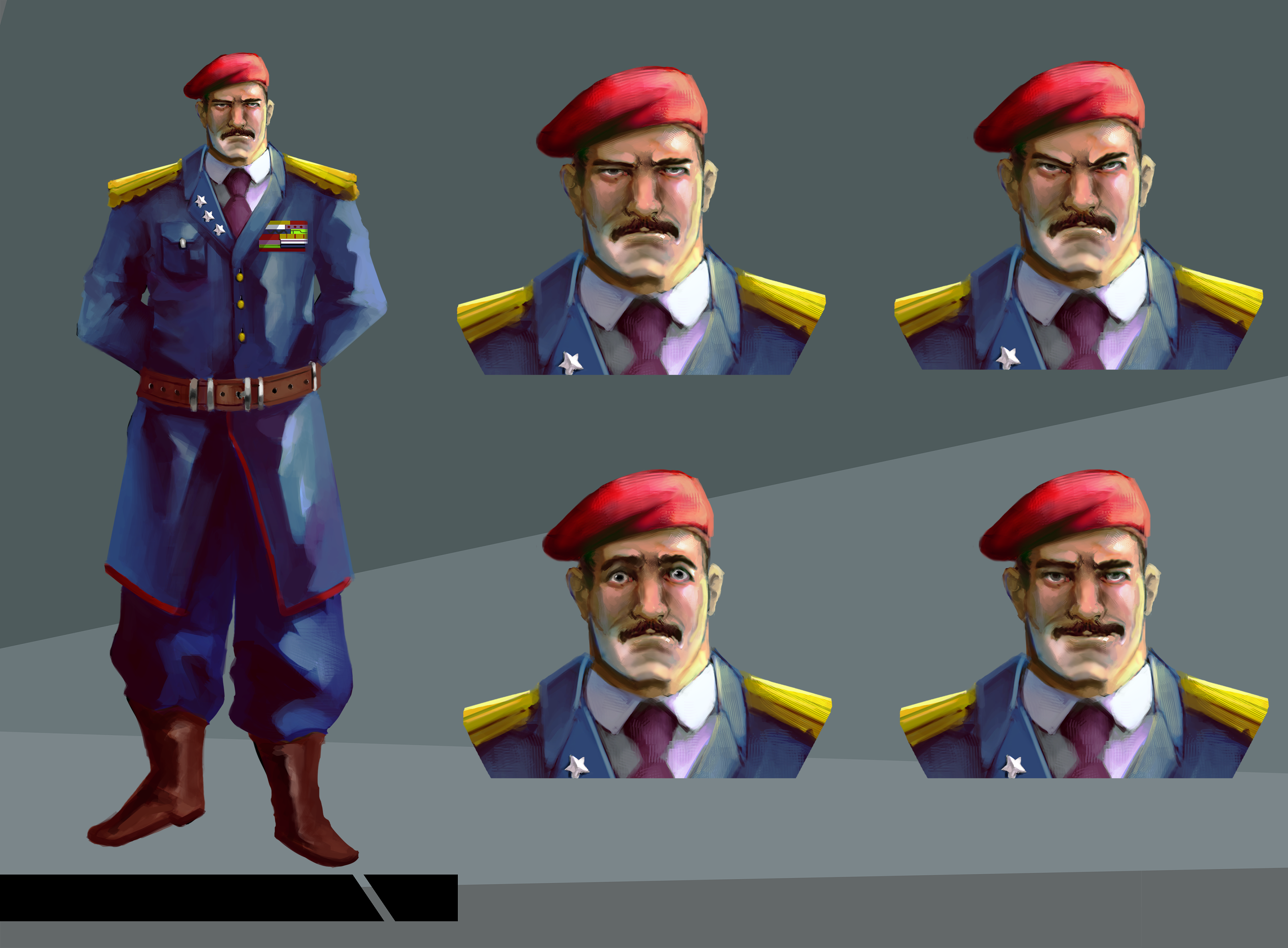 Then general with his 4 expressions.