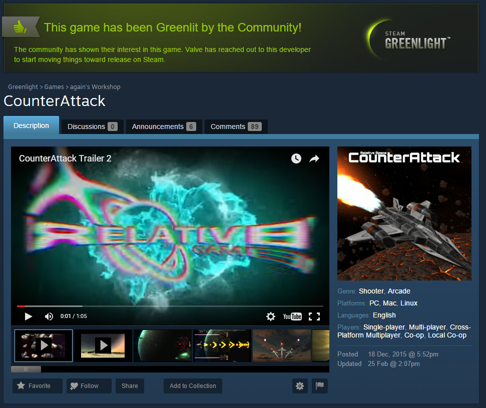 CounterAttack has been Greenlit