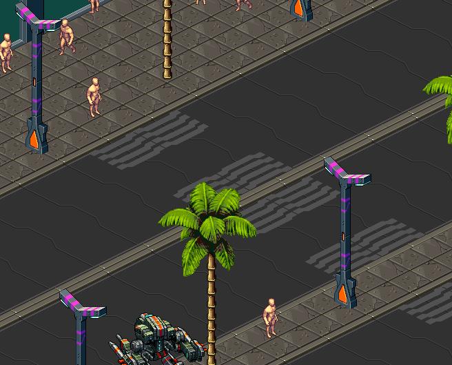 isometric pixelart city