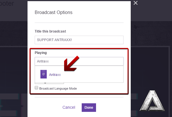 play antraxx on twitch