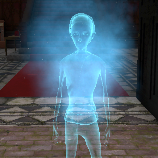 Albert with a ghost shader applied