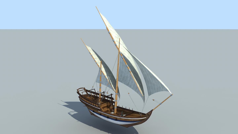The Inner Sea Large Sambuk ship