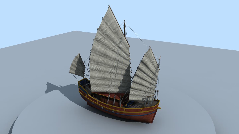 The Inner Sea Small Junk ship