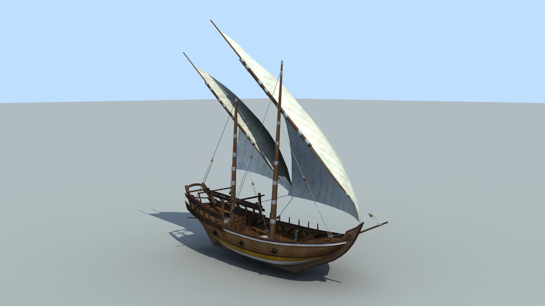 The Inner Sea Small Sambuk ship