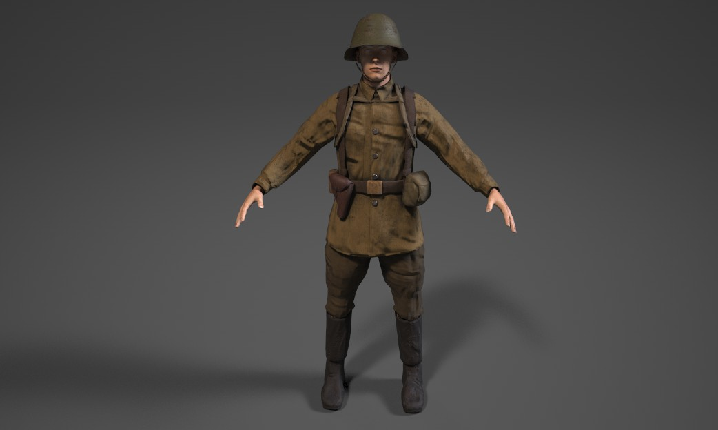 Russian Soldier Front